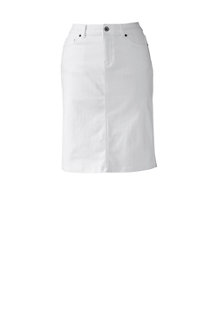 Women's Stain-resist White Denim Skirt