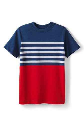 Little Boys' Placed Stripe Tee