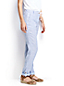 Women's Regular Linen Striped Roll Hem Trousers