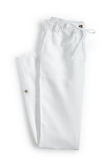 Women's Linen Roll Hem Trousers