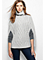 Women's Regular Cashmere Cable Roll Neck Poncho