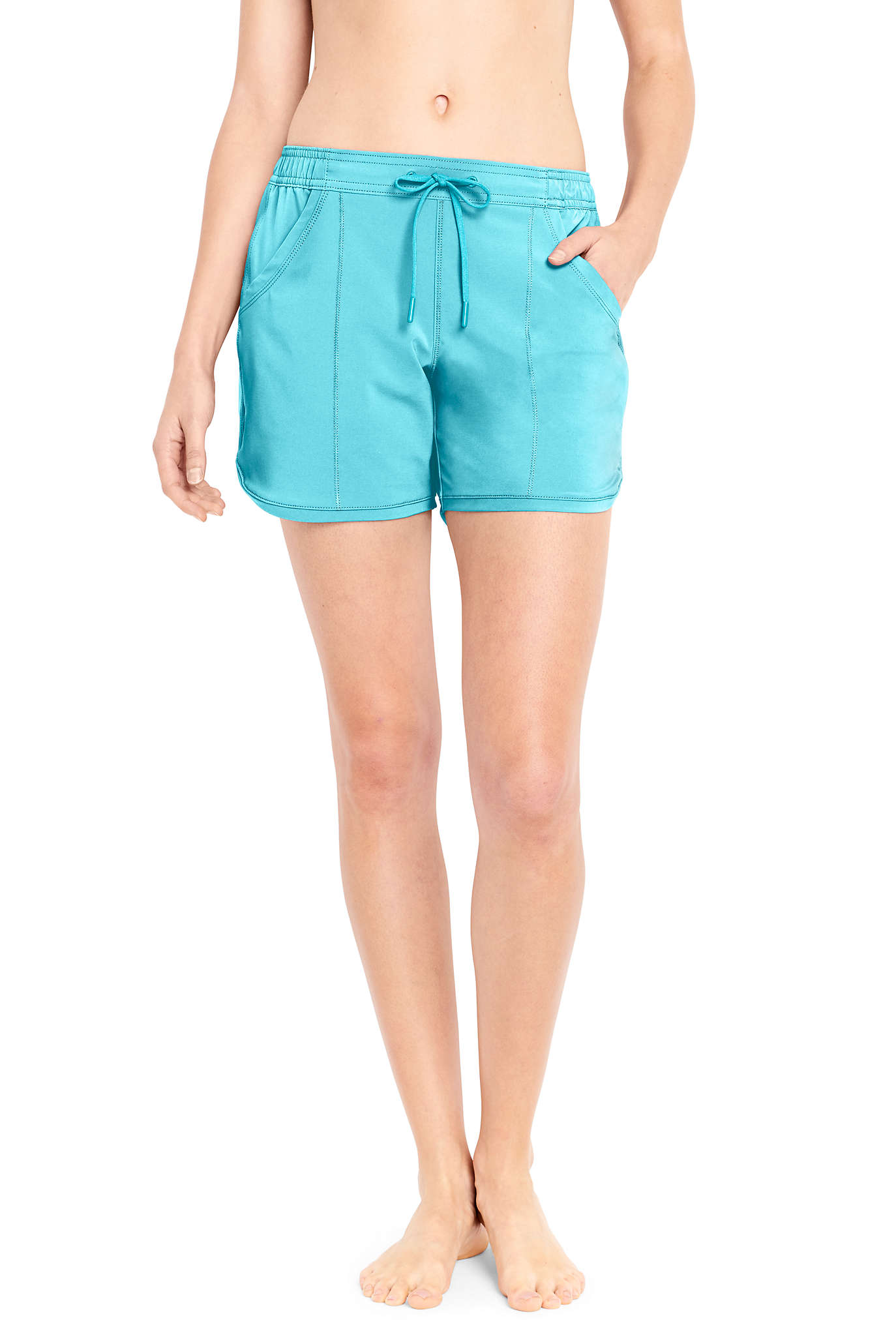 "Women's 3"" Tummy Control Modest Swim Shorts"