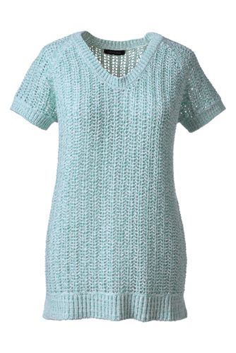 Women's Regular Cotton Tape Short Sleeve Soft V-neck
