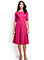 Women's Regular Elbow Sleeve Ponte Jersey Panelled Dress