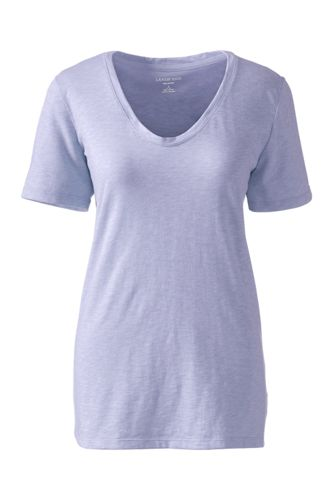 Women's Soft Slub Jersey V-Neck T-shirt