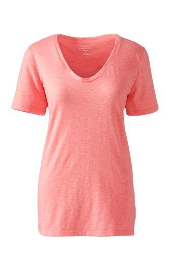 BaumwollViskose Shirt mit V Ausschnitt