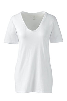 Women's Soft Slub Jersey V-Neck Tee