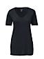 Baumwoll/Viskose-Shirt mit V-Ausschnitt in Petite-Größe