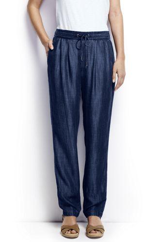 Women's Regular Indigo Soft Trousers