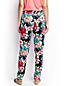Le Pantalon Fluide en Lyocell à Motifs, Femme Stature Standard