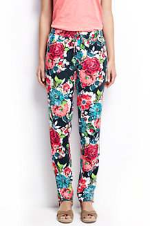 Women's Floral Soft Trousers