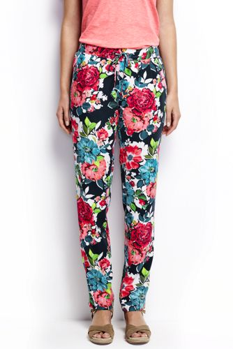 Women's Regular Print Soft Trousers