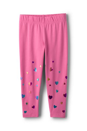 Toddler Girls' Cropped Jersey Leggings