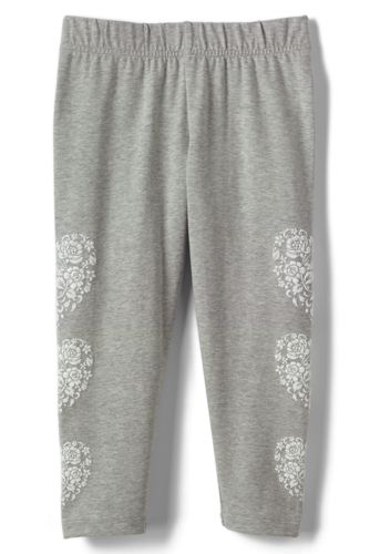 Little Girls' Cropped Jersey Leggings