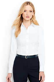 Women's Petite Long Sleeve Tailored Stretch Shirt