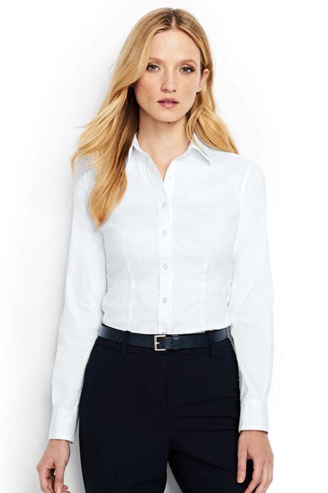 Women's Petite Long Sleeve Tailored Stretch Shirt