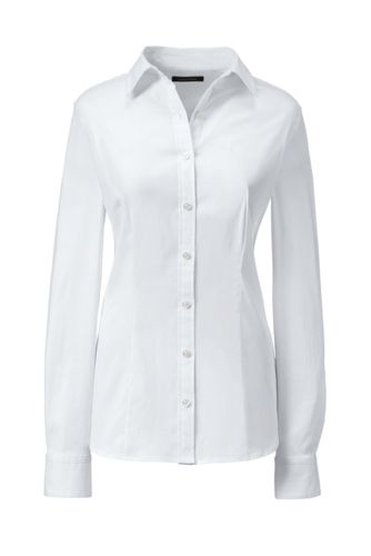 Women's Petite Tailored Stretch Shirt