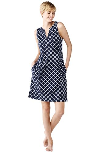 Women's Regular Patterned Sleeveless Tunic Cover-Up