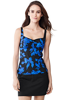 Women's Beach Living Blossom Print Sweetheart Tankini Top