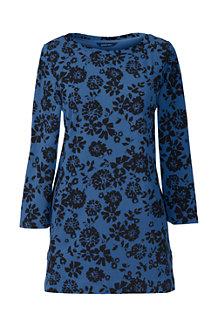 Women's Three Quarter Sleeve Print Tunic
