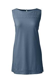 Women's Cotton/Modal Sleeveless Lace Tee