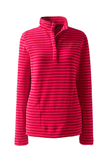 Women's  Stretch Fleece Popper Polo Neck