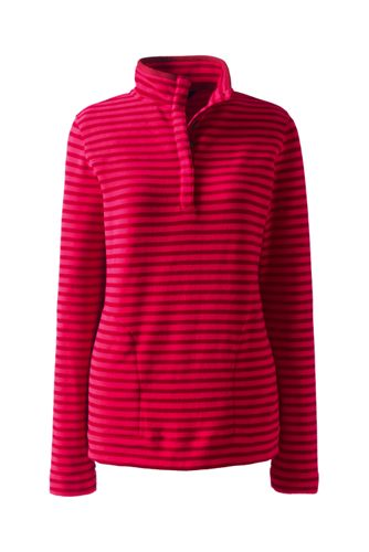 Women's Regular Stretch Fleece Popper Polo Neck