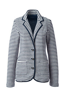 Women's Striped Jersey Blazer