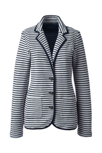Gestreifter French Terry-Blazer