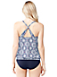 Women's Regular Beach Living Geo Print Blouson Tankini Top