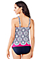 Women's Regular Scallop Geo Print Scoop Neck Tankini Top