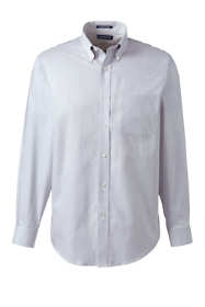 Men's Tall Long Sleeve Button Down No Iron Pinpoint Pattern Shirt