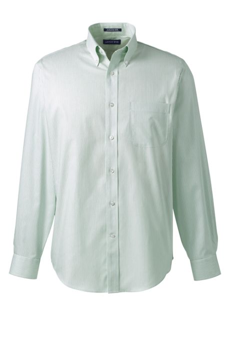 Men's Tall Long Sleeve Button Down No Iron Pinpoint Pattern Shirt