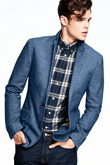 Le Blazer Chambray Coupe Slim Homme