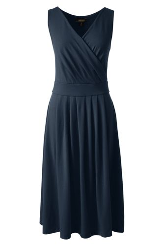 Ärmelloses Jerseykleid in Wickel-Optik für Damen