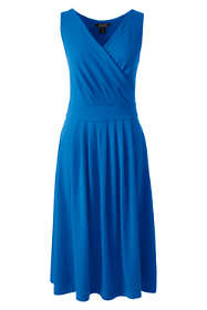 Women's Plus Size Sleeveless Fit and Flare Dress