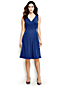 Women's Regular Plain Sleeveless Crossover Dress