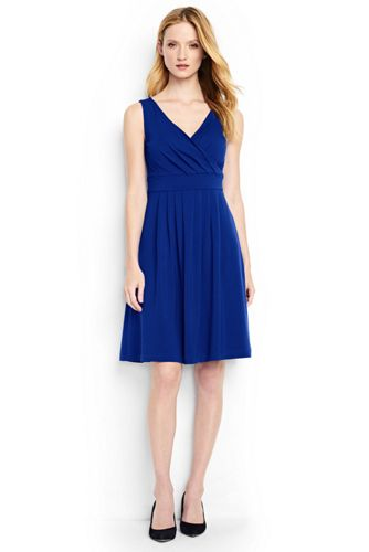 Women S Fit And Flare Dress From Lands End