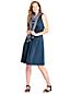Women's Plain Sleeveless Crossover Dress