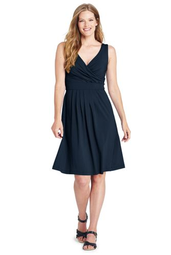Women's Plain Sleeveless Crossover Dress