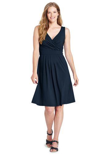 Ärmelloses Jerseykleid in Wickel-Optik für Damen