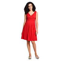 LandsEnd.com deals on Lands End Women's Banded Waist Fit and Flare Dress Knee Length