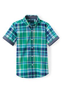 Karo-Kurzarmhemd für  Jungen