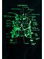 ボーイズ・光るグラフィックT/半袖