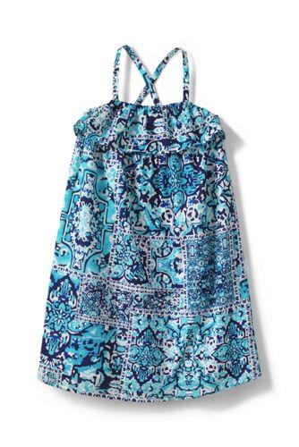La Robe Tissée Sans Manches Petite Fille