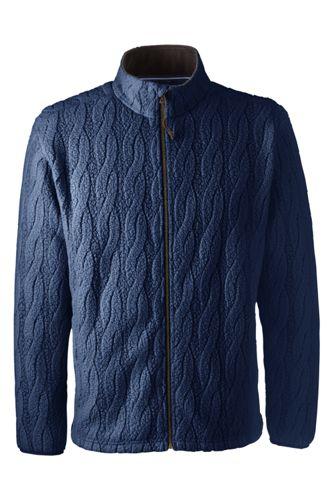 Men's Regular Cable Fleece Jacket