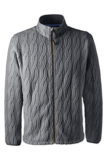 Men's Regular Cable Fleece Jacket