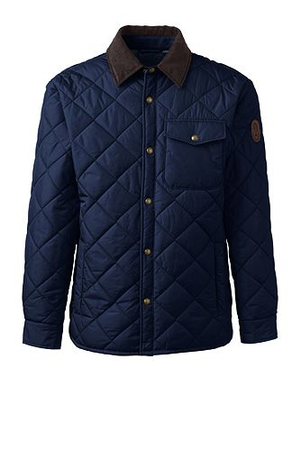 Quilted Primaloft Shirt Jacket 471716: Regiment Navy