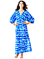 Women's Regular Silk Blend Tie Dye Maxi Kaftan