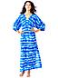 Le Caftan Long en Coton et Soie Coloris Dégradés, Femme Stature Standard